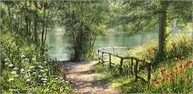 """Cachet (UK) Ltd Country Pond Print """"Summer Reflections"""" by ..."""